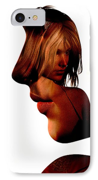 Profile Of A Woman IPhone Case by David Ridley