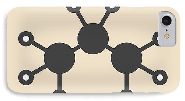 Propane Hydrocarbon Molecule IPhone Case by Molekuul