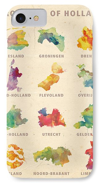 Provinces Of Holland IPhone Case by Big City Artwork
