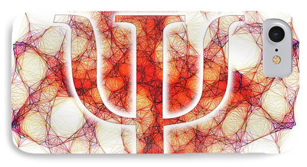 Psi Symbol And Artwork Of A Wavefunction IPhone Case