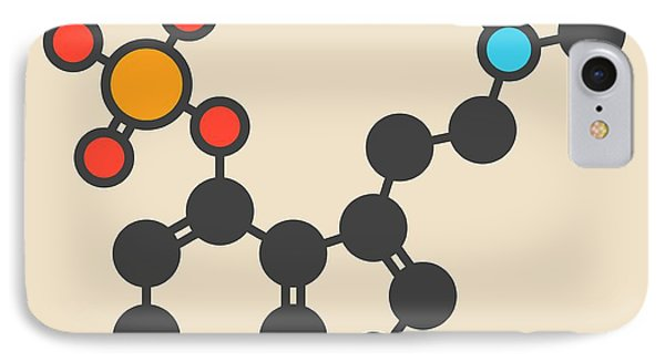 Psilocybin Psychedelic Mushroom Molecule IPhone Case by Molekuul