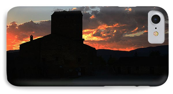 Puesta De Sol En El Castillo De Ainsa IPhone Case