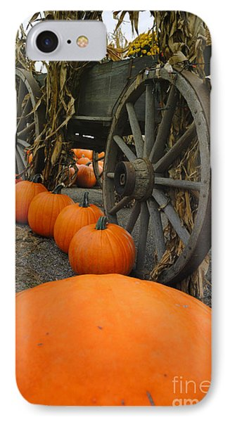 Pumpkins With Old Wagon IPhone Case