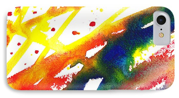 Pure Color Inspiration Abstract Painting Parallel Perception IPhone Case