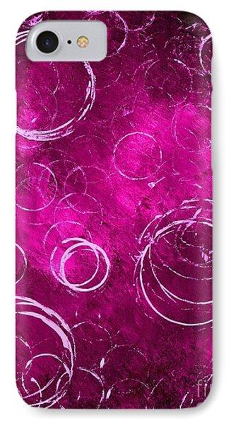 Purple Bubbles IPhone Case by Michael Grubb