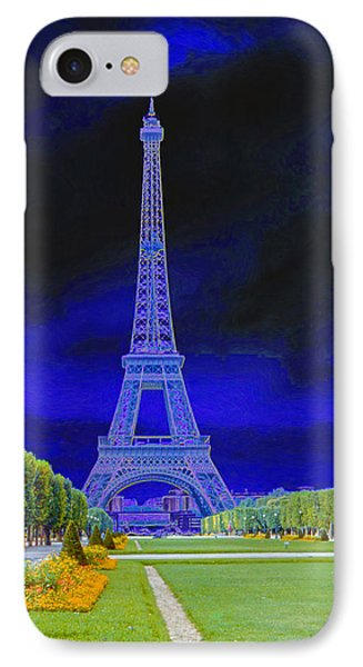 Purple Eiffel IPhone Case by Chuck Staley