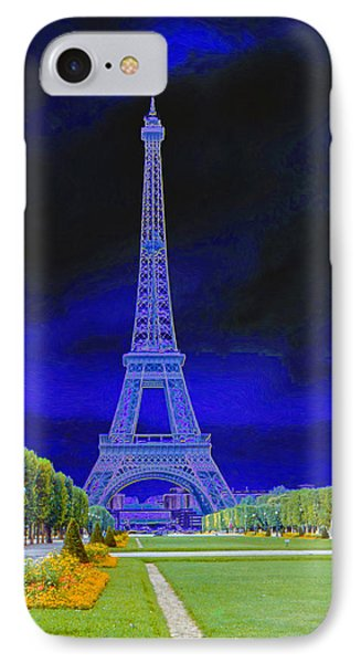 Purple Eiffel IPhone Case