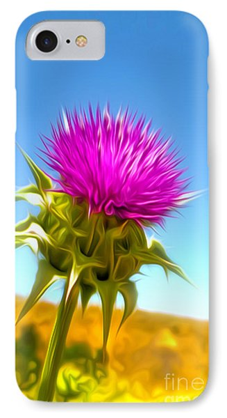 Purple Flower IPhone Case by Gregory Dyer