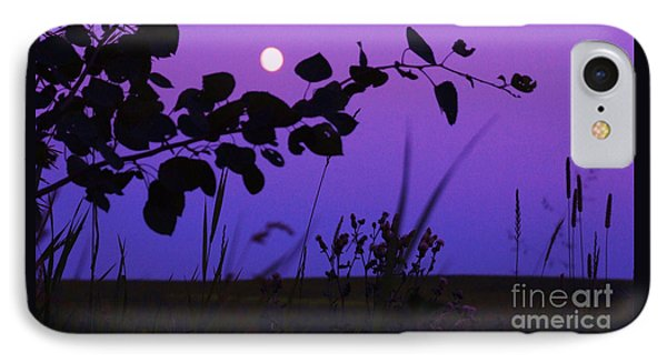 Purple Moon IPhone Case