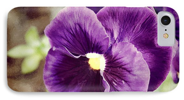 Purple Pansy Phone Case by Carolyn Ricks