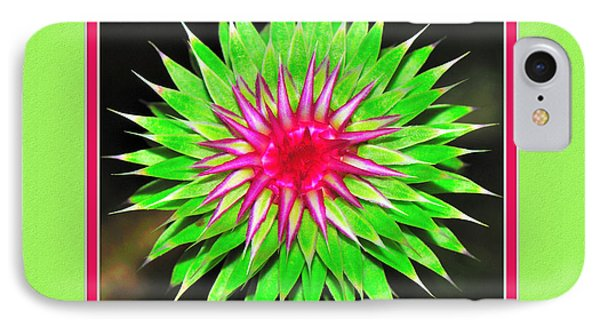 Purple Thistle Flower IPhone Case by Charles Feagans