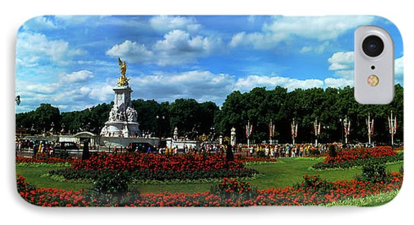 Queen Victoria Memorial At Buckingham IPhone Case by Panoramic Images