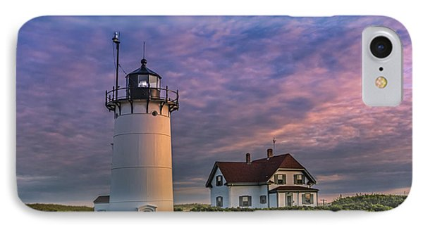 Race Point Lighthouse Sunset IPhone Case by Susan Candelario