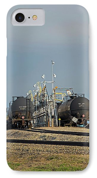 Rail Cars Carrying Lpg IPhone Case by Jim West