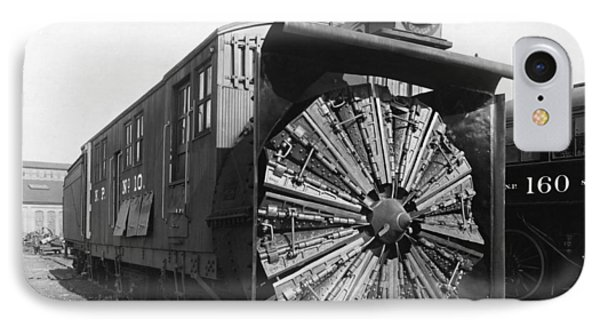 Railroad Rotary Snow Plow IPhone Case by Underwood Archives