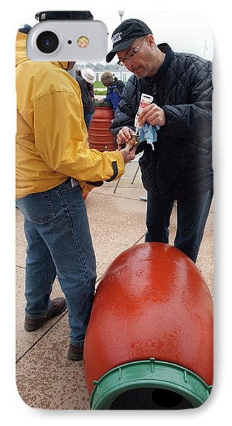 Rain Barrel Workshop IPhone Case by Jim West