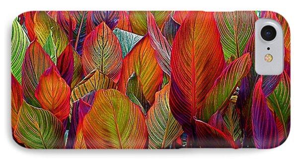 Rainbow Leaves IPhone Case by Rita Mueller