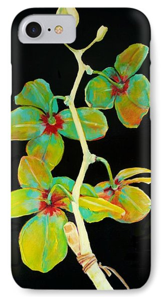 Rainbow Orchids IPhone Case by Jean Cormier