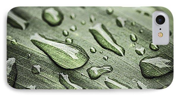 Raindrops On Leaf IPhone Case
