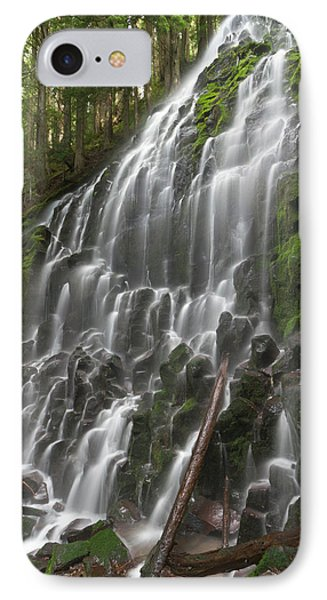 Ramona Falls In Clackamas County, Oregon IPhone Case by William Sutton