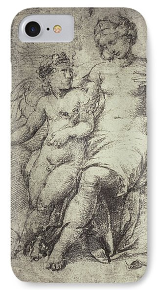 Raphael Drawing From Windsor Castle, Mary With Jesus IPhone Case by Artokoloro