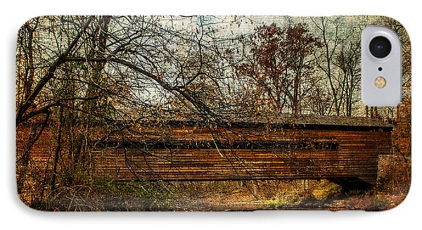 Rapps Dam Covered Bridge IPhone Case by Judy Wolinsky
