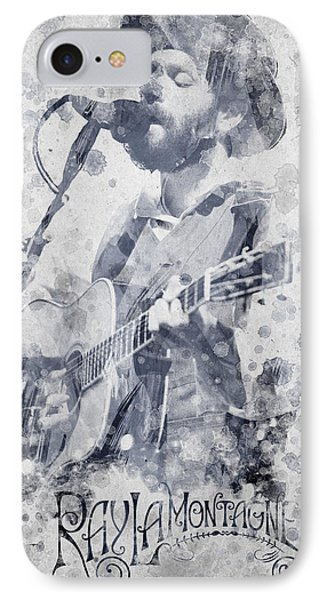 Ray Lamontagne Portrait IPhone Case by Aged Pixel
