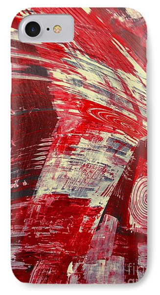 Red And White Phone Case by Gabriele Mueller