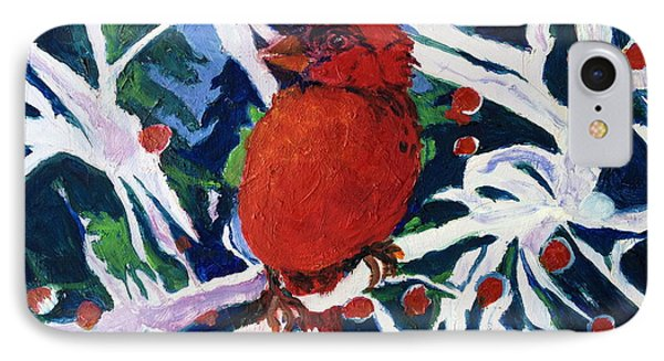 IPhone Case featuring the painting Red Bird by Julie Todd-Cundiff