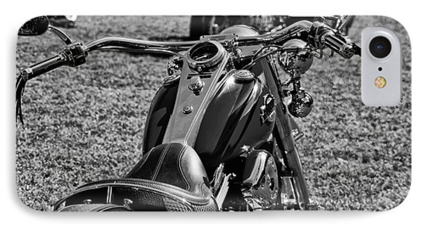 IPhone Case featuring the photograph Red Harley Davidson by Wilma  Birdwell