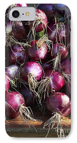 Red Onions IPhone Case by Tony Cordoza