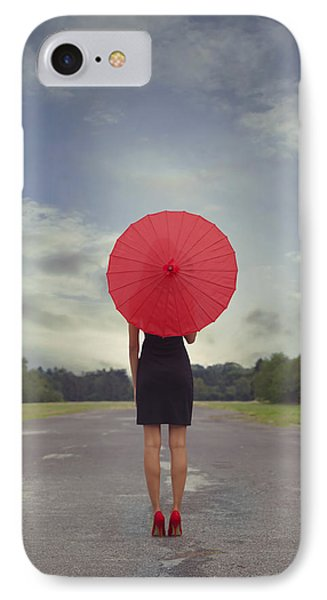 Red Parasol Phone Case by Joana Kruse