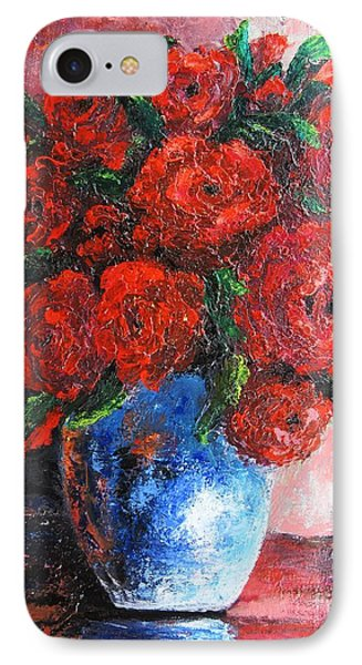 IPhone Case featuring the painting Red Scent by Vesna Martinjak