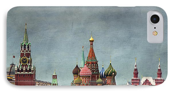 Red Square Moscow IPhone Case by Elena Nosyreva