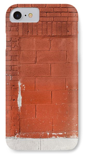 Red Wall With Immured Door IPhone Case
