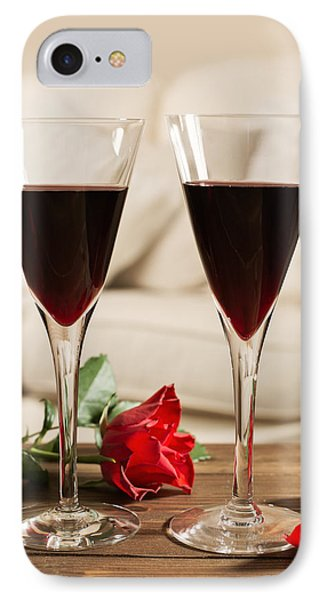Red Wine And Roses IPhone Case by Amanda Elwell