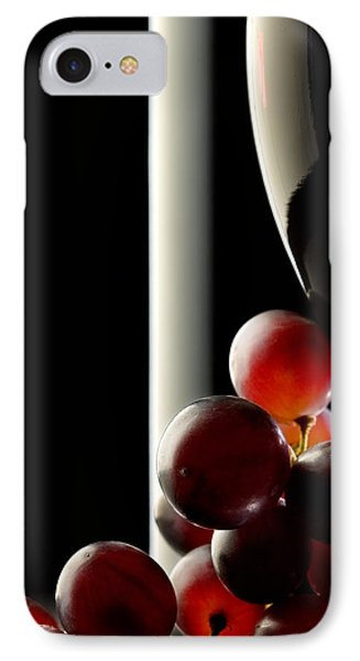 Red Wine With Grapes IPhone Case by Johan Swanepoel