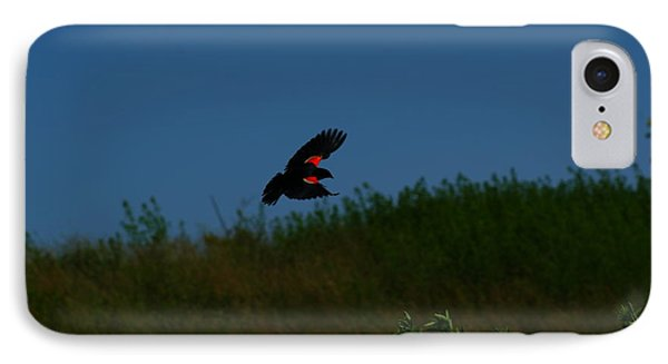 Red Winged Blackbird Phone Case by Andrew Lahay