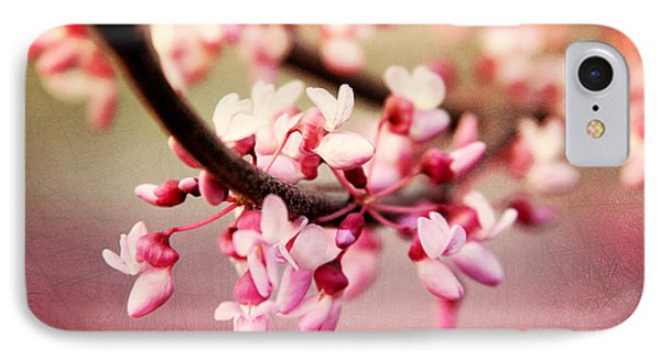 IPhone Case featuring the photograph Redbud Blossoms by Trina  Ansel