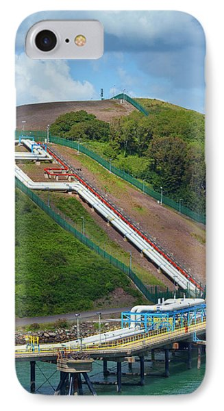 Refinary Pipeline In Milford Haven IPhone Case by Panoramic Images