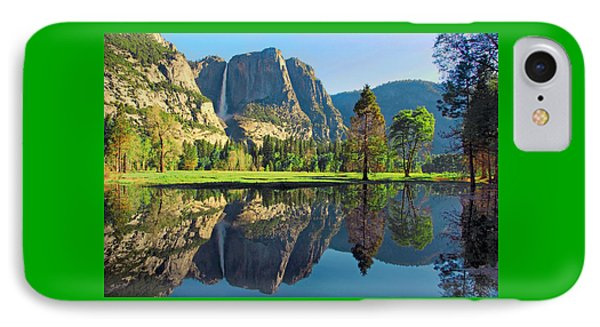 Reflections Of Yosemite Falls Phone Case by Lynn Bauer