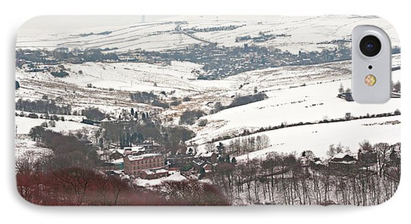 Remote Farmland On The Snow Covered Yorkshire Moors IPhone Case by Ken Biggs