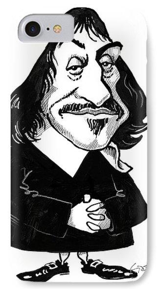 Rene Descartes, Caricature IPhone Case