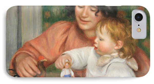 Renoir's Child With Toys -- Gabrielle And The Artist's Child Jean IPhone Case by Cora Wandel