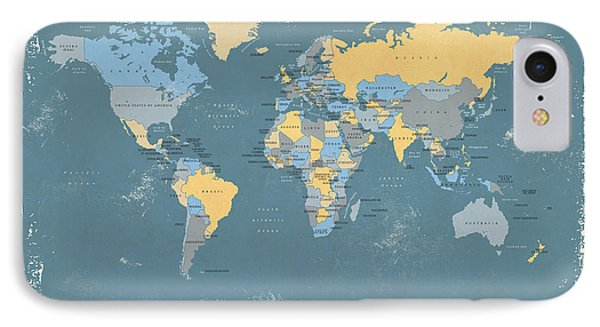 Retro Political Map Of The World IPhone Case