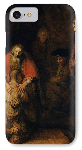 Return Of The Prodigal Son IPhone Case by Rembrandt van Rijn