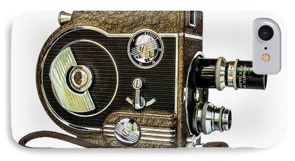 Revere 8 Movie Camera IPhone Case by Jon Woodhams