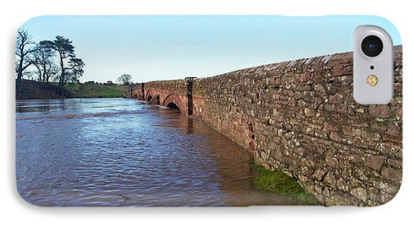River Eden Flooding. IPhone Case