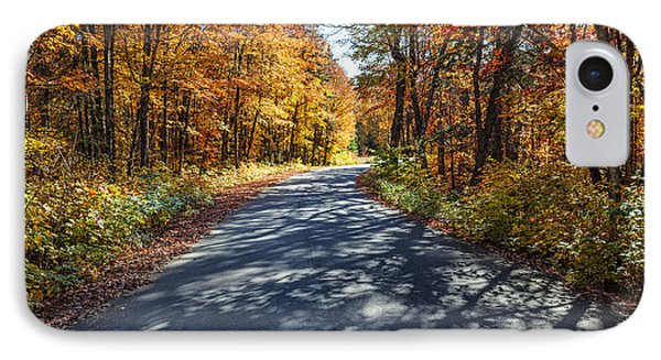 Road In Fall Forest IPhone Case