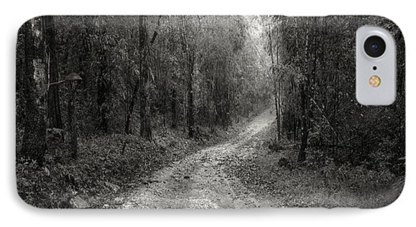 Road Way In Deep Forest IPhone Case by Setsiri Silapasuwanchai